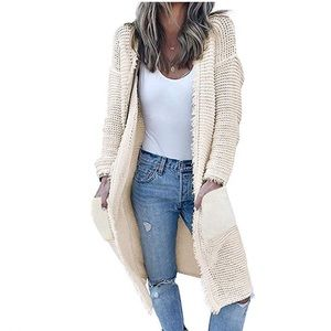 Fringed Trim Cardigan Sweater
